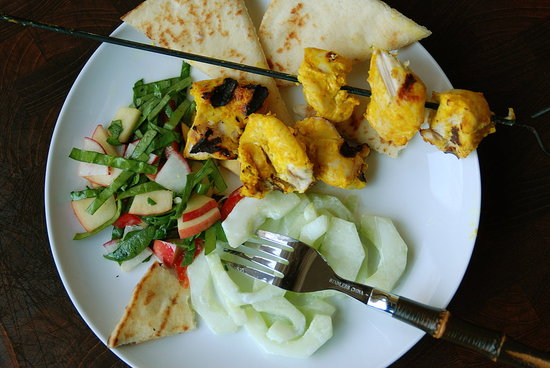 Tandoori Chicken Skewers with Cucumber Raita - Fresh Tart by Stephanie ...