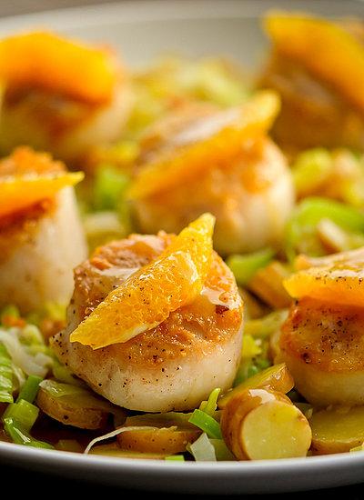scallops with orange sauce