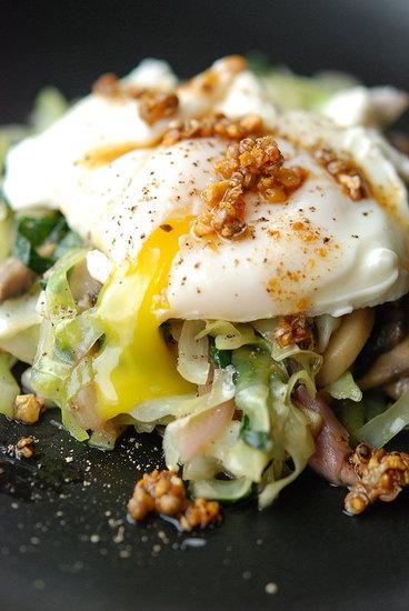 poached egg vegetables taklia