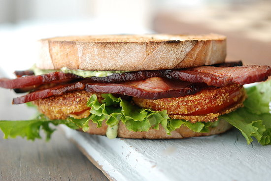 fried tomato blt