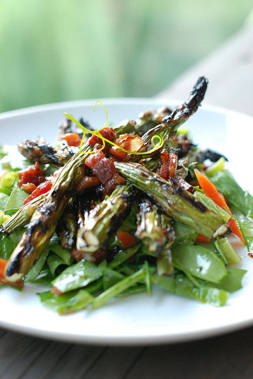 asparagus salad with bacon vinaigrette