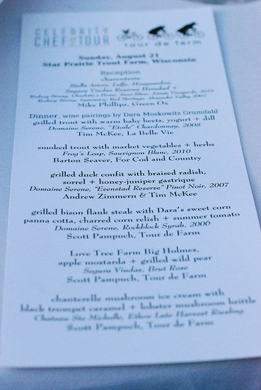 tour de farm menu