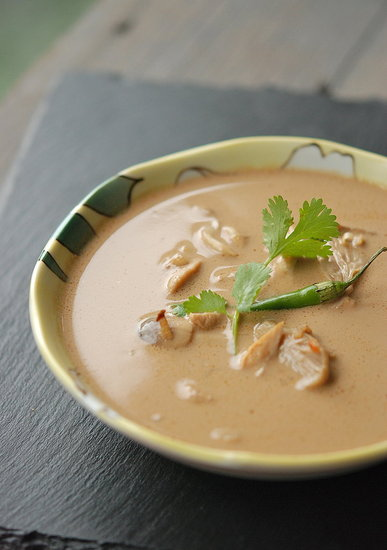 thai hot-n-sour coconut-chicken soup