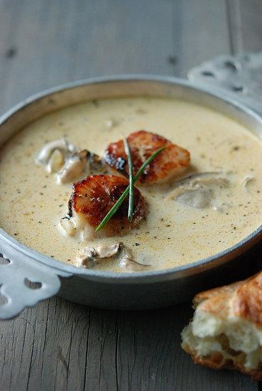 montauk scallop & oyster pan roast andrew zimmern