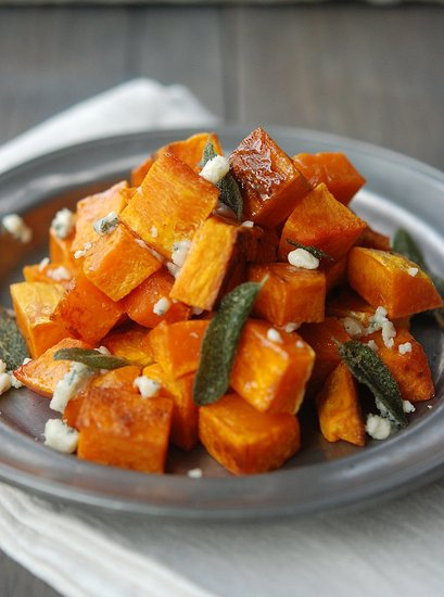 roasted butternut squash blue cheese sage