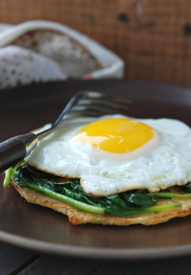 chickpea flour pancake fried egg socca