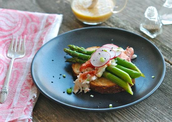 lobster asparagus salad miso-mustard vinaigrette andrew zimmern