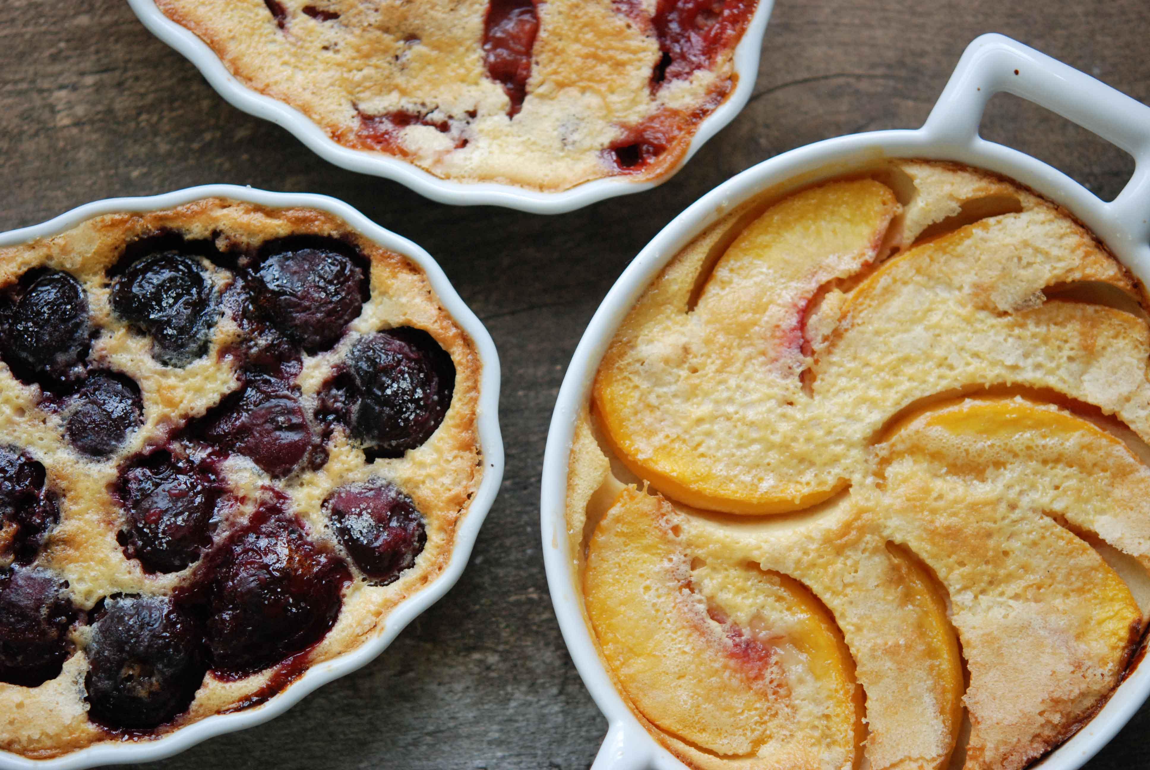 Peach, Cherry, and Rhubarb-Raspberry Clafoutis |Fresh Tart by ...