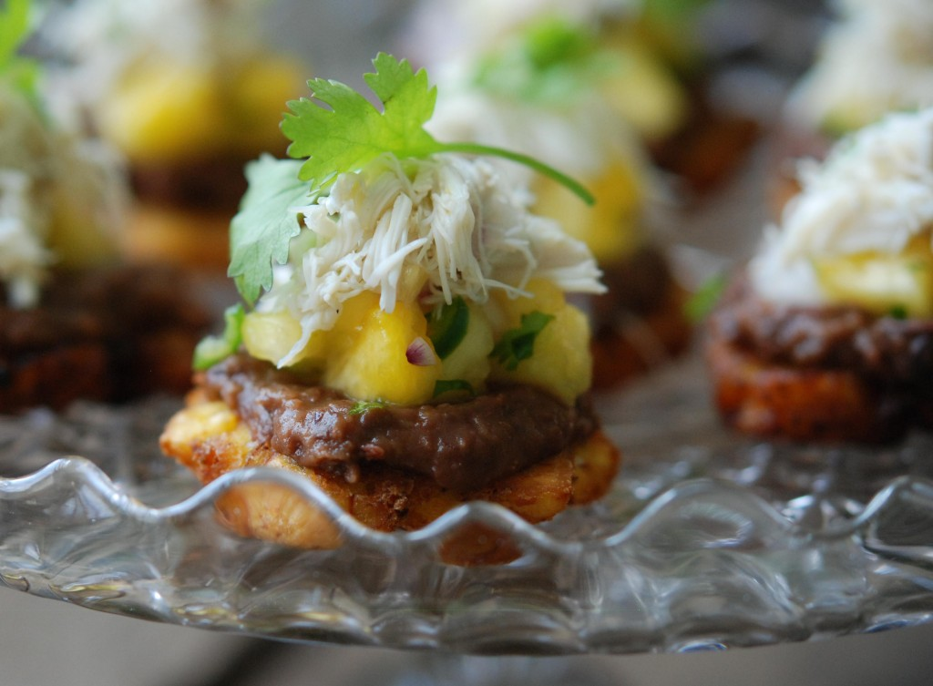 Tostones with Pineapple Salsa