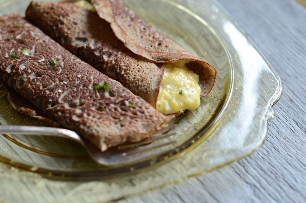 Buckwheat Crepes with Scrambled Eggs & Brie | Fresh Tart