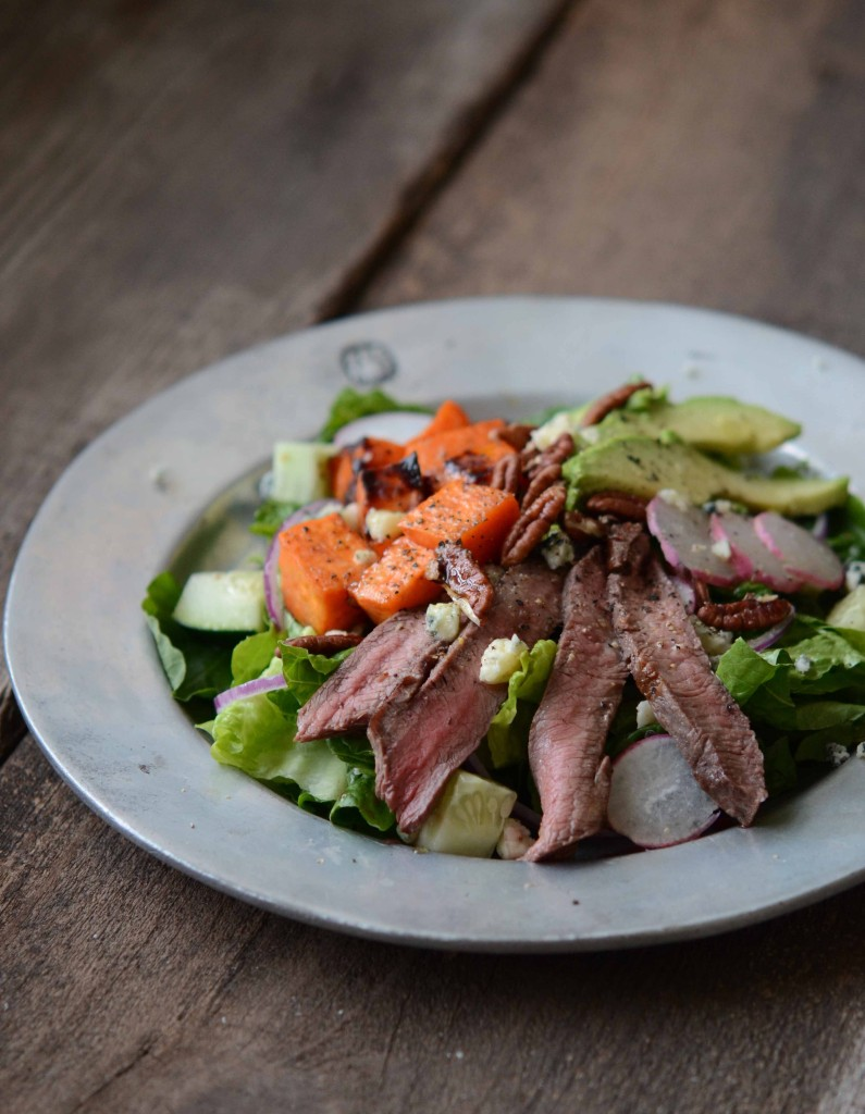 Fall Steak Salad with Sweet Potatoes, Avocado & Maple Vinaigrette | Fresh Tart