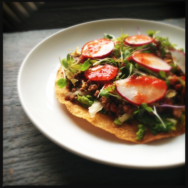 Beef Tostada with Sauerkraut | Fresh Tart