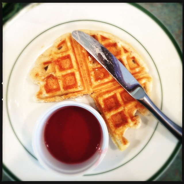 Gluten-Free Waffles with Chokecherry Syrup | Fresh Tart