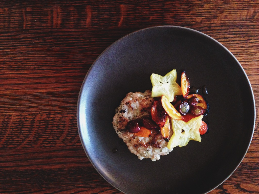 AIP Chicken Sausage with Roasted Fruit & Maple Syrup