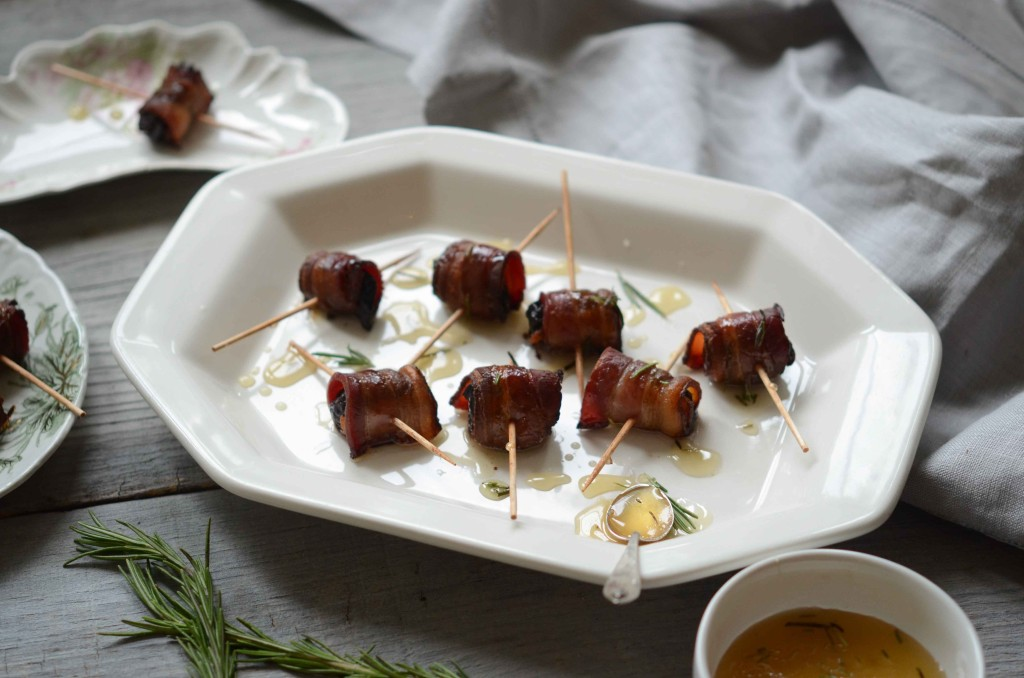Bacon-Wrapped Dried Plums with Rosemary Honey | Fresh Tart (AIP, Paleo)