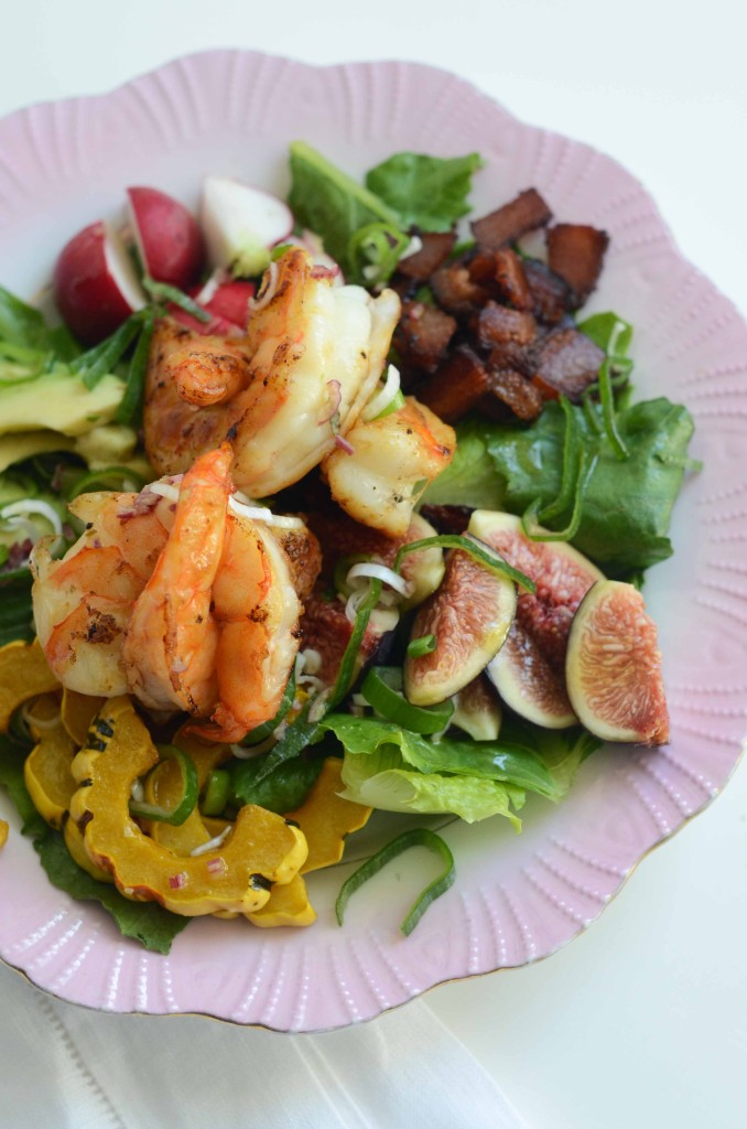 Shrimp Chopped Salad with Figs, Squash & Bacon | Fresh Tart (Paleo, AIP)