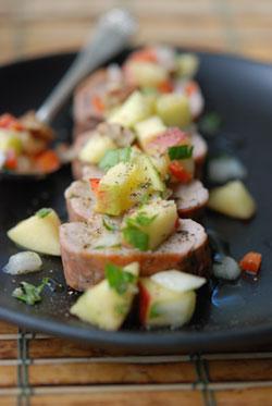 Pork Tenderloin and Apple Salsa